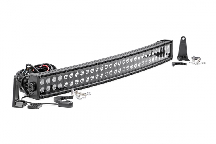 30-INCH CURVED CREE LED LIGHT BAR - (DUAL ROW | BLACK SERIES)