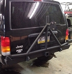 XJ Rear Square Bumper with Swing Out