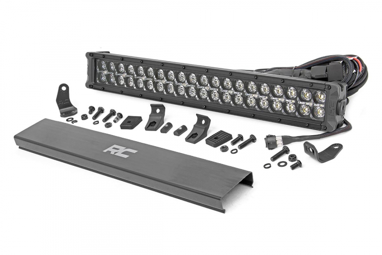 20-INCH CREE LED LIGHT BAR - (DUAL ROW | BLACK SERIES W/ COOL WHITE DRL)
