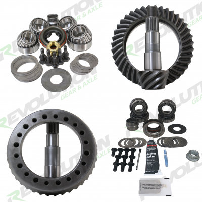 JK Rubicon Dana 44 4.11-5.38 Ratio Gear Package Front/Rear W/KOYO Master Overhaul Kits Revolution Gear