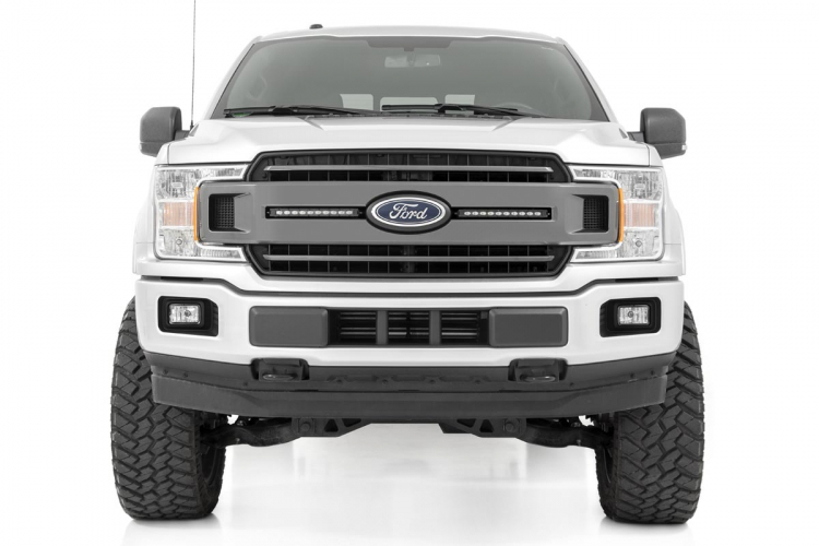 Rough Country FORD DUAL 10IN LED GRILLE KIT (18-19 F-150 | XLT)