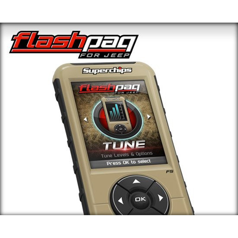 Superchips Flashpaq F5 Tuner Jeep Wrangler