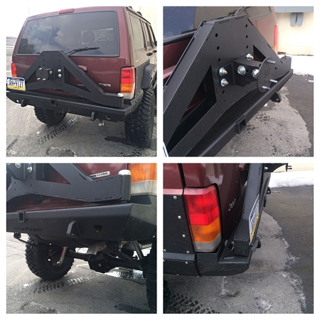 XJ Slayer Rear Bumper with Tire Carrier