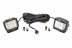 3-INCH WIDE ANGLE OSRAM LED LIGHTS - (PAIR)