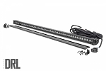 50-INCH STRAIGHT CREE LED LIGHT BAR - (SINGLE ROW | BLACK SERIES W/ COOL WHITE DRL)