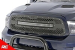 Rough Country DODGE MESH GRILLE W/30IN DUAL ROW BLACK SERIES LED (13-18 RAM 1500)