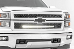 Rough Country CHEVY MESH GRILLE W/30IN BLACK SERIES LED (14-15 SILVERADO 1500)