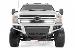 Rough Country CHEVY MESH GRILLE W/ DUAL 12IN BLACK SERIES LEDS (11-14 SILVERADO HD)
