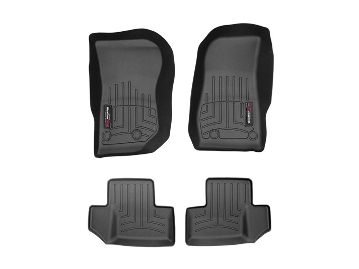 WeatherTech Custom Fit FloorLiner for Ford F-150-1st /& 2nd Row Black